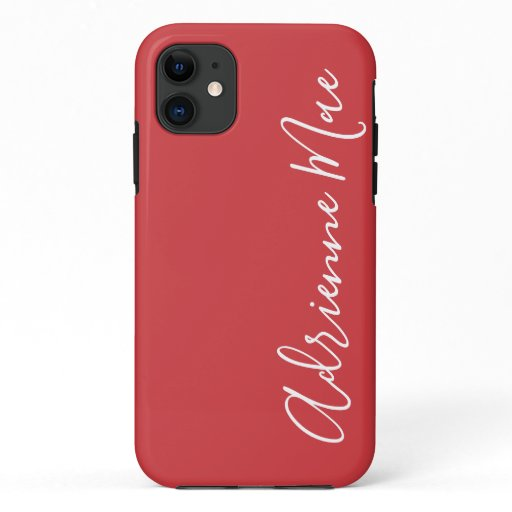 Simply Personalized Flame Red iPhone 11 Case