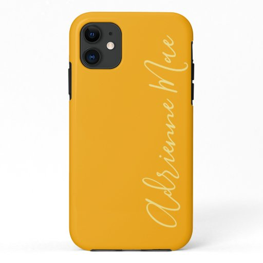Simply Personalized Lemon Yellow Swirl iPhone 11 Case