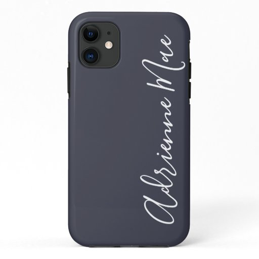 Simply Personalized Navy Blue iPhone 11 Case