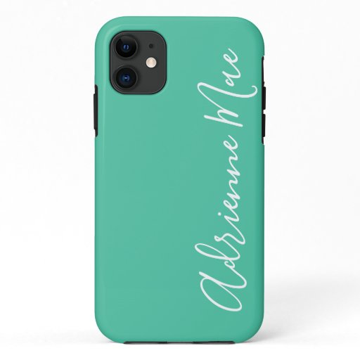 Simply Personalized Sea Green iPhone 11 Case