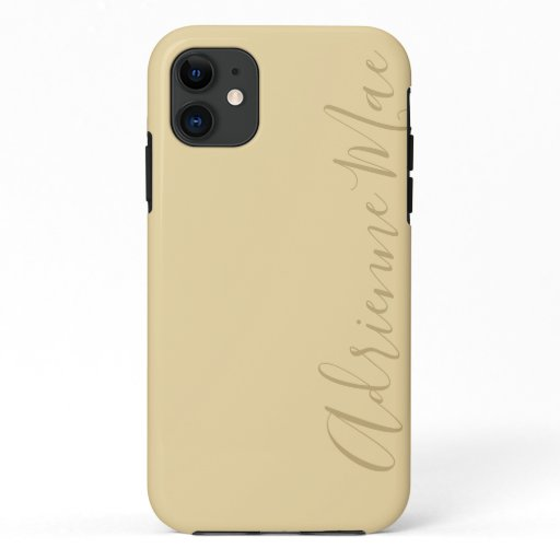 Simply Personalized Sunlight Ivory iPhone 11 Case