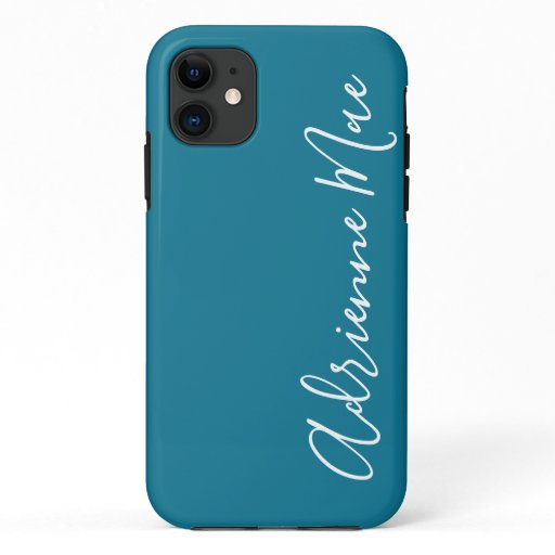 Simply Personalized Teal Blue iPhone 11 Case