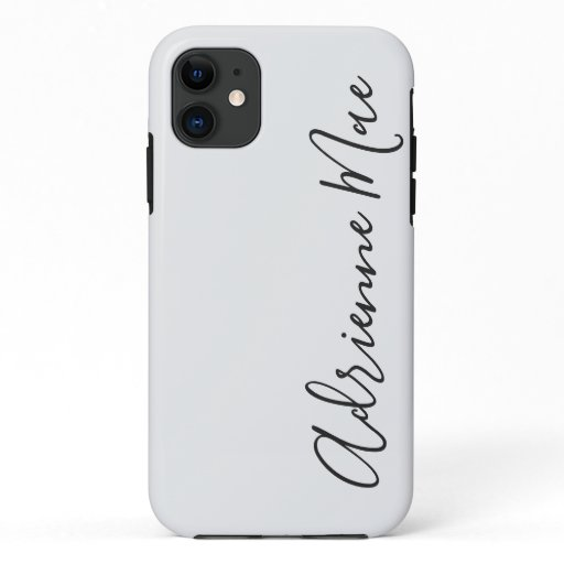 Simply Personalized White Silver iPhone 11 Case