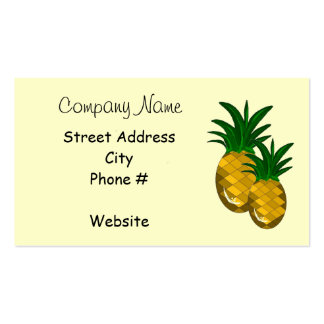 Simply Pineapple Business Card Template