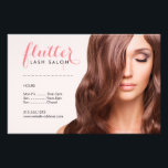 """Simply Pink Lash Salon Photo Price List Menu Flyer<br><div class=""""desc"""">Coordinates with the Simply Pink Lash Salon Photo Business Card Template by 1201AM. A pink calligraphy font spells out your name or business name with swooping tails and delicate curves - perfect for a lash salon brand! The stock photo can be replaced with your own photo for added customization. These...</div>"""