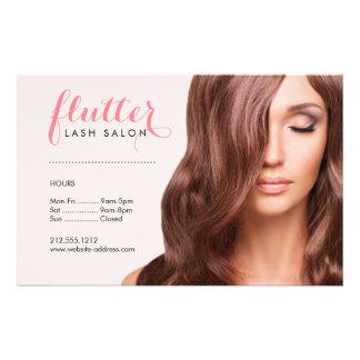 Simply Pink Lash Salon Photo Price List Menu Flyer