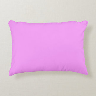Simply Pink Solid Color Accent Pillow