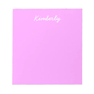 Simply Pink Solid Color Notepad