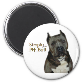 Simply PitBull 2 Inch Round Magnet