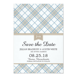 Simply Plaid | Save the Date Card