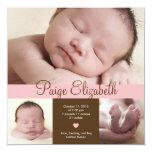 Simply Precious Birth Announcement - Pink