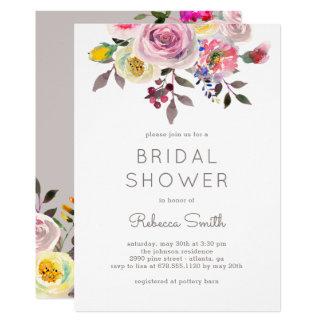 Simply Pretty EDITABLE COLOR Bridal Shower Invite