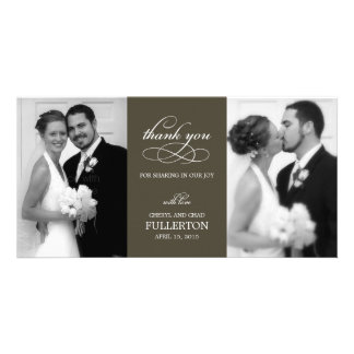 Simply Pretty Wedding Thank You Photo Cards Photo Card Template