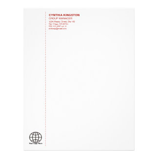 Simply professional wine red your logo company letterhead