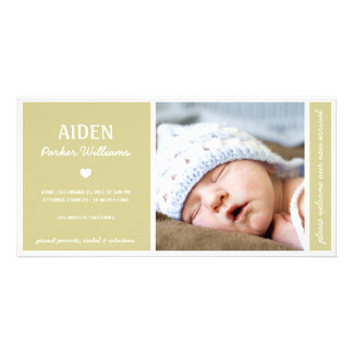 SIMPLY PURE | BABY BIRTH ANNOUNCEMENT PHOTO CARD
