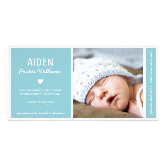 SIMPLY PURE | BABY BOY BIRTH ANNOUNCEMENT