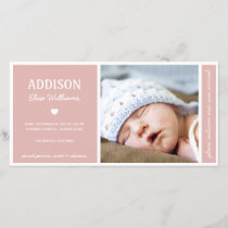 SIMPLY PURE | BABY GIRL BIRTH ANNOUNCEMENT