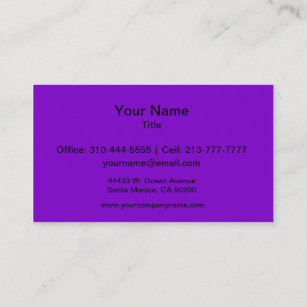 Solid color business cards templates zazzle simply purple solid color business card reheart Image collections
