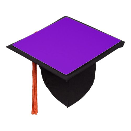 Simply Purple Solid Color Graduation Cap Topper