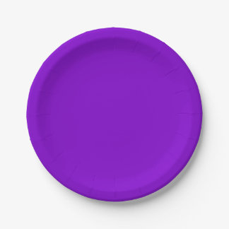 Simply Purple Solid Color Paper Plate