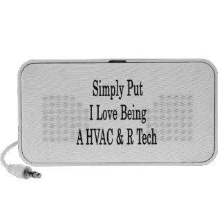 Simply Put I Love Being A HVAC R Tech Mp3 Speaker