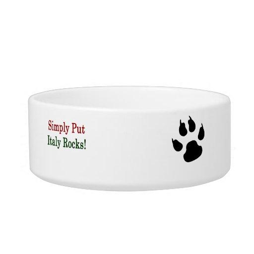 Simply Put Italy Rocks Cat Water Bowl