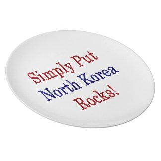 Simply Put North Korea Rocks Plates