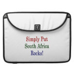 Simply Put South Africa Rocks MacBook Pro Sleeves