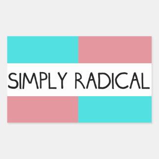 Simply Radical Flag Sticker