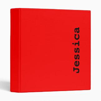 Simply Red 3 Ring Binder
