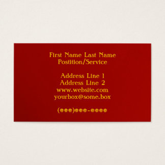 Simply Red Business Card