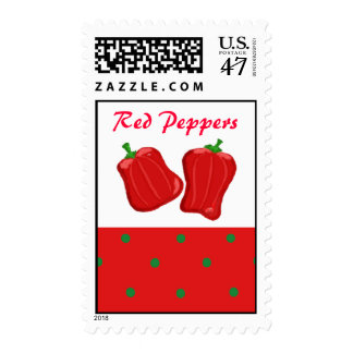 Simply Red Peppers Postage