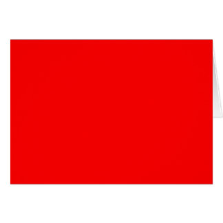 Simply Red Solid Color Card