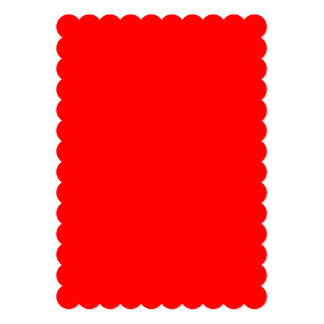 "Simply Red Solid Color 5"" X 7"" Invitation Card"