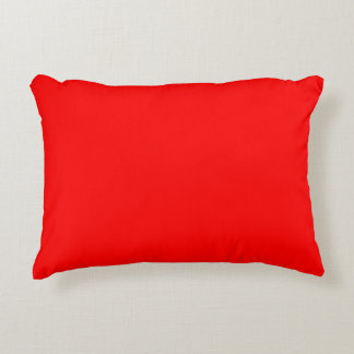 Simply Red Solid Color Accent Pillow