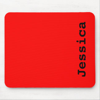 Simply Red Solid Color Mouse Pad