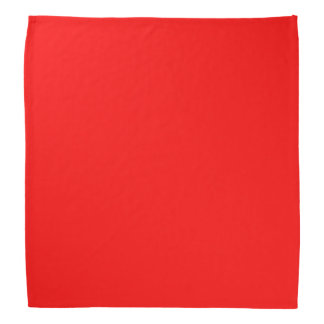Simply Red Solid Color Bandana