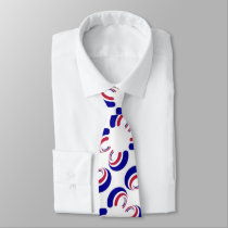Simply red white and blue neck tie