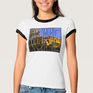 Simply Rome - Ancient Colosseum Word Art T-Shirt
