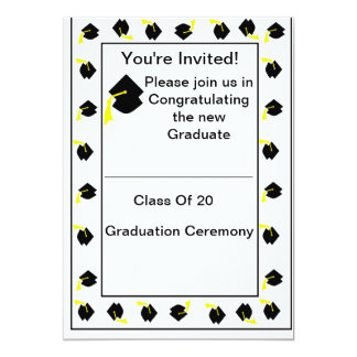 Simply Sheek Graduation Ceremony Invitation