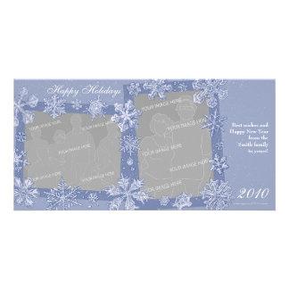 Simply Snowflakes Double Photo Card Horizontal 1