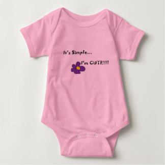 Simply stated Baby One Piece T Shirts