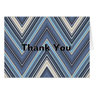 Simply Stated Chevron Thank You Cards