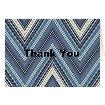 Professional Business Simply Stated Chevron Thank You Cards