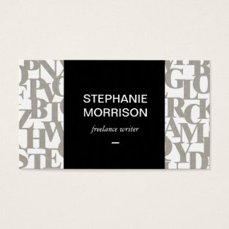 Simply Stated Letterforms Writer's Business Card