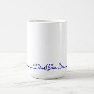 Simply Stated Thin Blue Line Coffee Mug