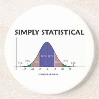 Simply Statistical (Bell Curve Attitude) Beverage Coasters