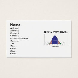 Simply Statistical (Bell Curve Attitude) Business Card