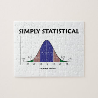 Simply Statistical (Bell Curve Attitude) Jigsaw Puzzle