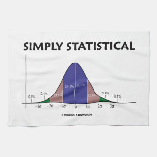 Simply Statistical (Bell Curve Attitude) Kitchen Towel
